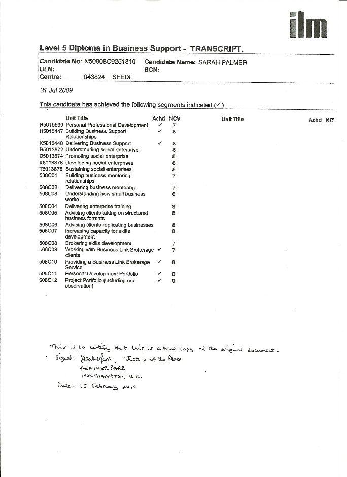 qualifications  u2013 sarah palmer resume